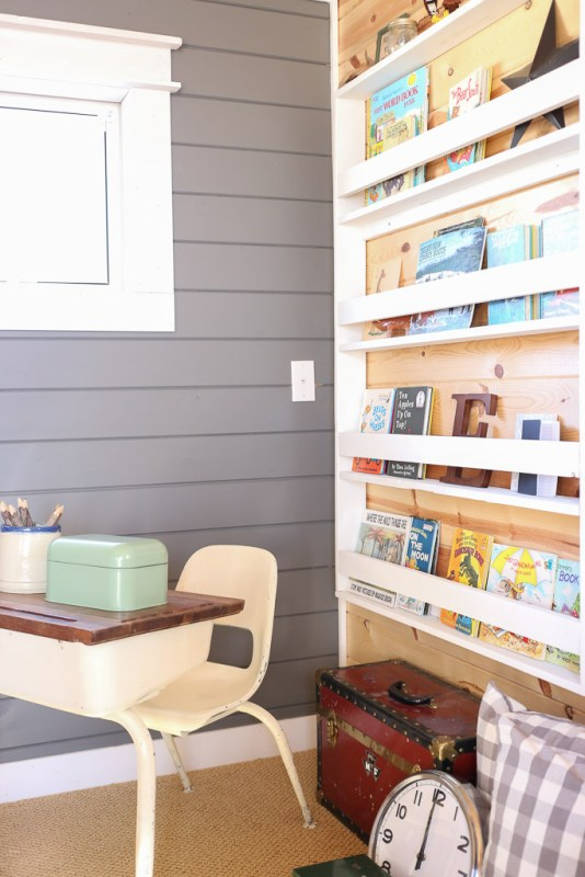 homework and reading corner with wall-mount bookshelf, Mama's Dance