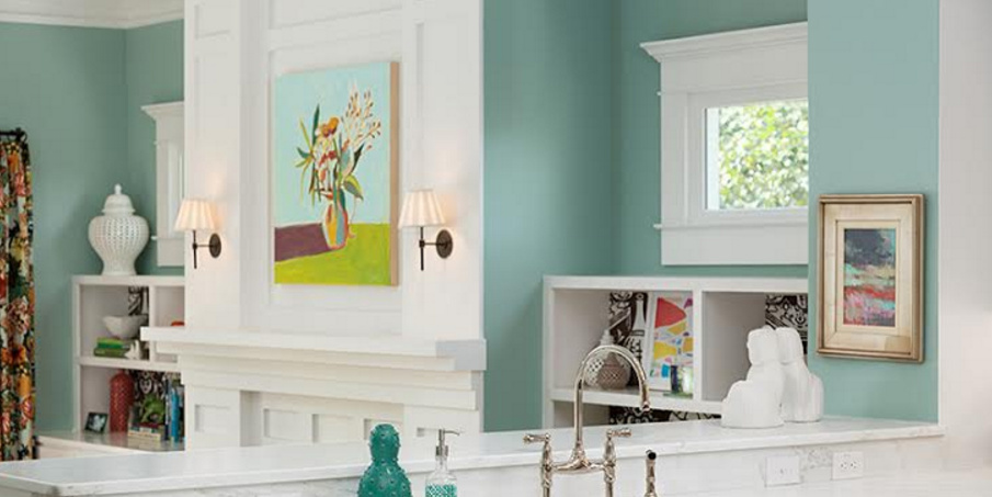 Remodelaholic  Color Spotlight Wythe Blue from Benjamin Moore
