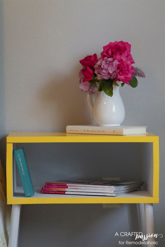 How to build a modern side table, a tutorial, by A Crafted Passion featured on @Remodelaholic