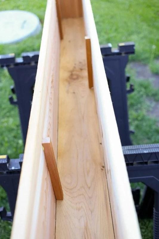 build a custom cedar wood window box planter tutorial