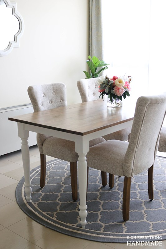 Dining-Farm-House-Table-Finished-Project Oh Everything Handmade