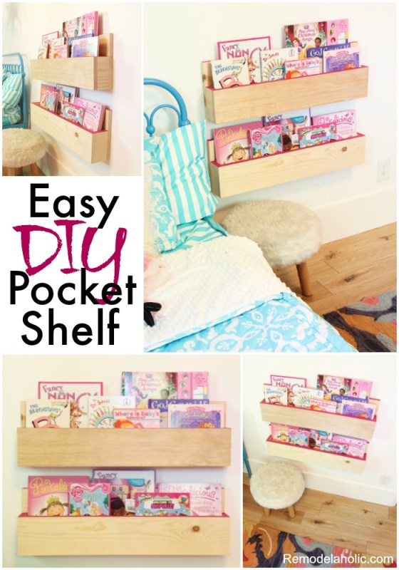 Easy DIY pocket Shelf Tutorial