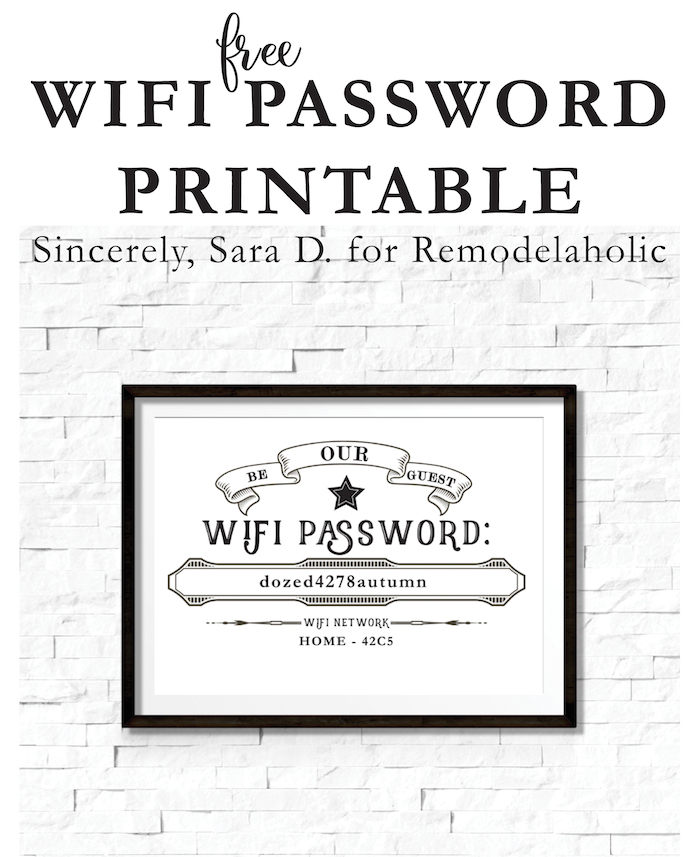 It's just a picture of Trust Wifi Password Sign Printable