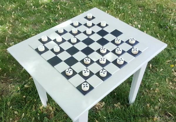 Faux Checkerboard Tops repurosing junkie