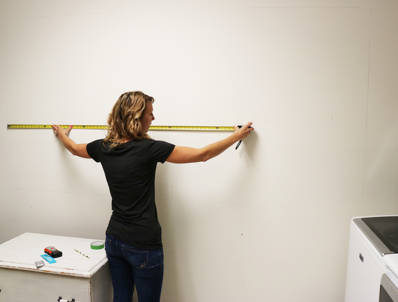 Measuring for Peg Board Wall