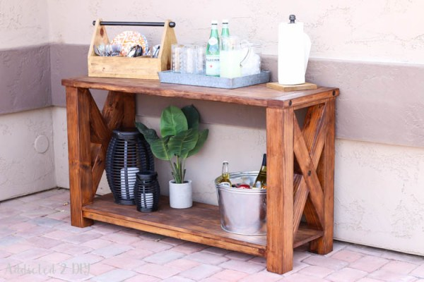 Outdoor Console Table Building Plans Addicted 2 DIY