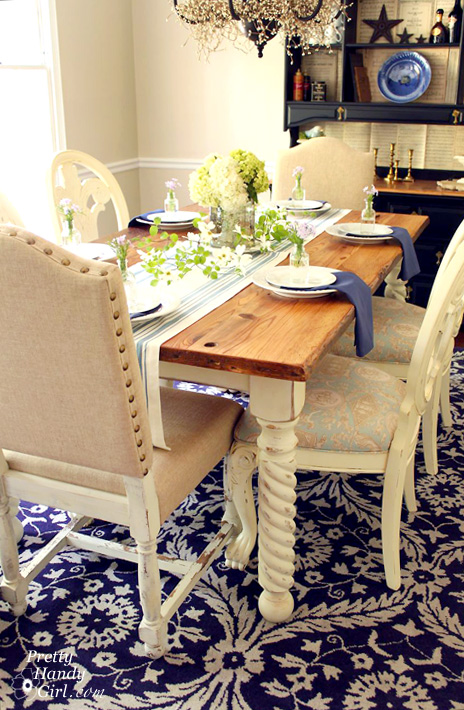 Rustic Farmhouse Table Pretty Handy Girl