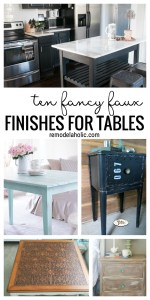 Ten fancy faux finishes for tables via remodelaholic.com