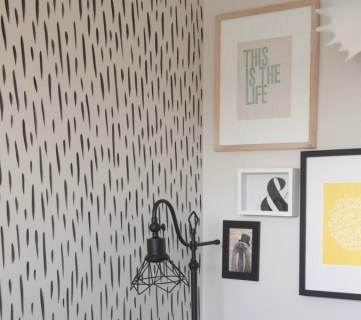 Easy DIY Hand-Painted Brushstroke Accent Wall