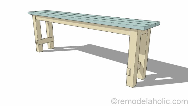 Remodelaholic How To Build A NoNails Console Table Layering - How to build a console table