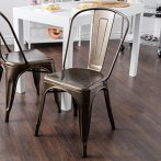 dining chair metal tolix style