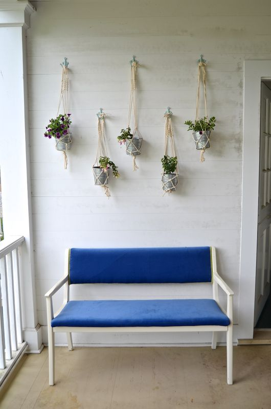 easy macrame hanging planters with cheap IKEA metal buckets by Ciburbanity