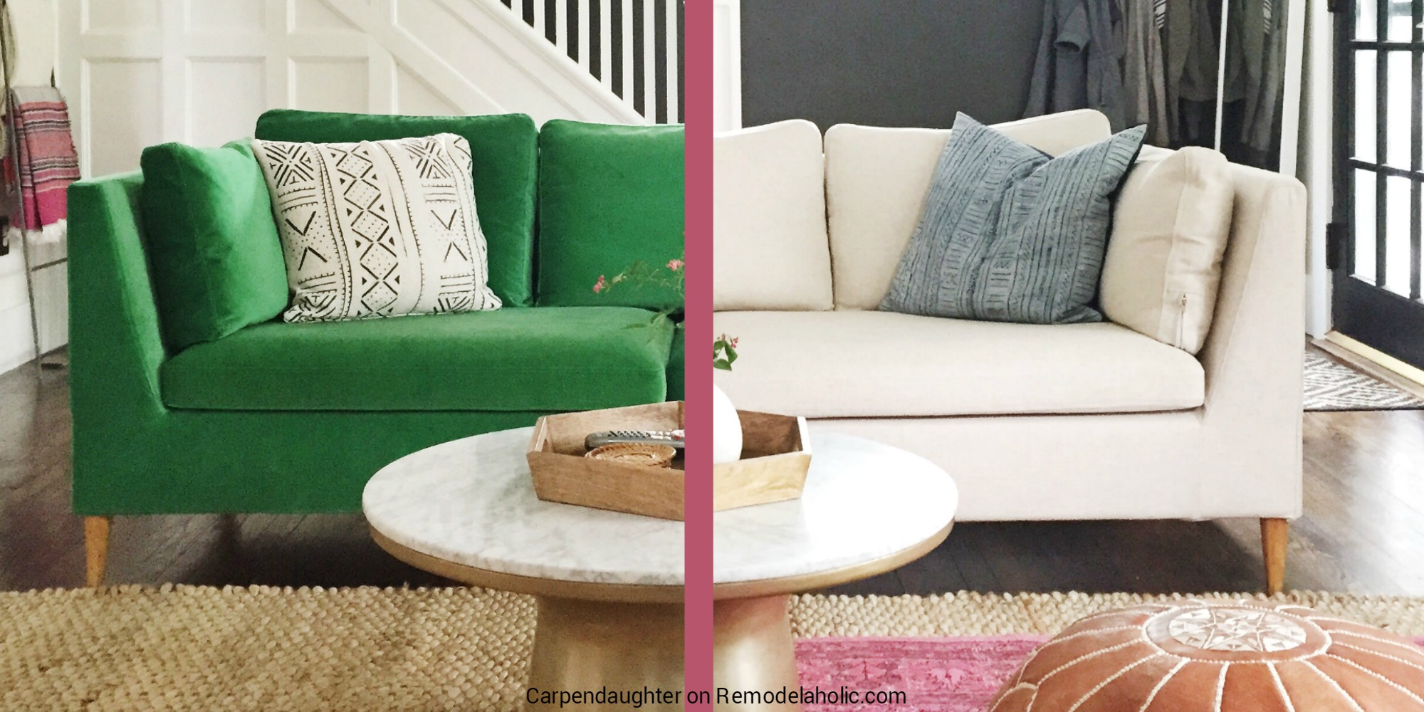 Remodelaholic | Easily Change a Room with a Custom IKEA Sofa ...