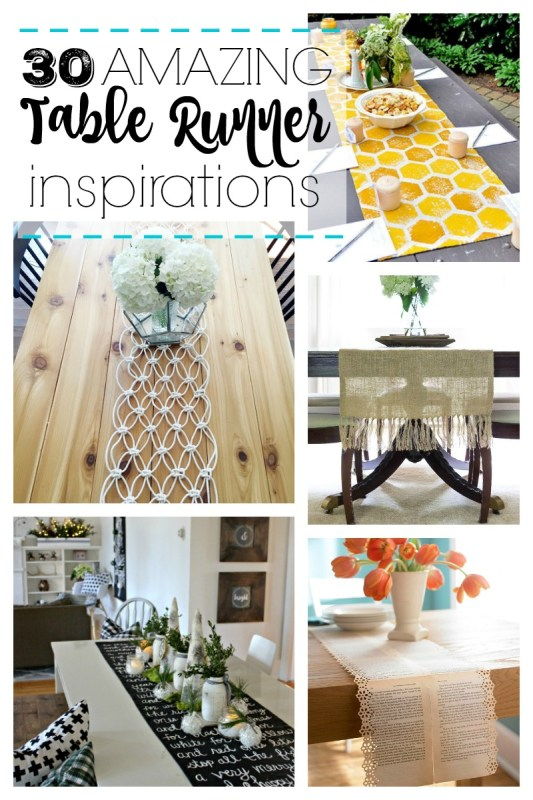 Looking for a simple way to dress up a table? Add one of these 30 amazing table runner inspirations featured on remodelaholic.com