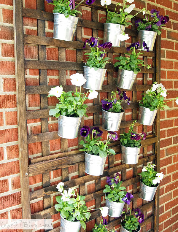 vertical planter using cheap metal buckets from IKEA, by Cape 27