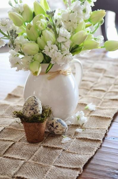 woven-burlap-runner-on kitchen table-stonegableblog.com