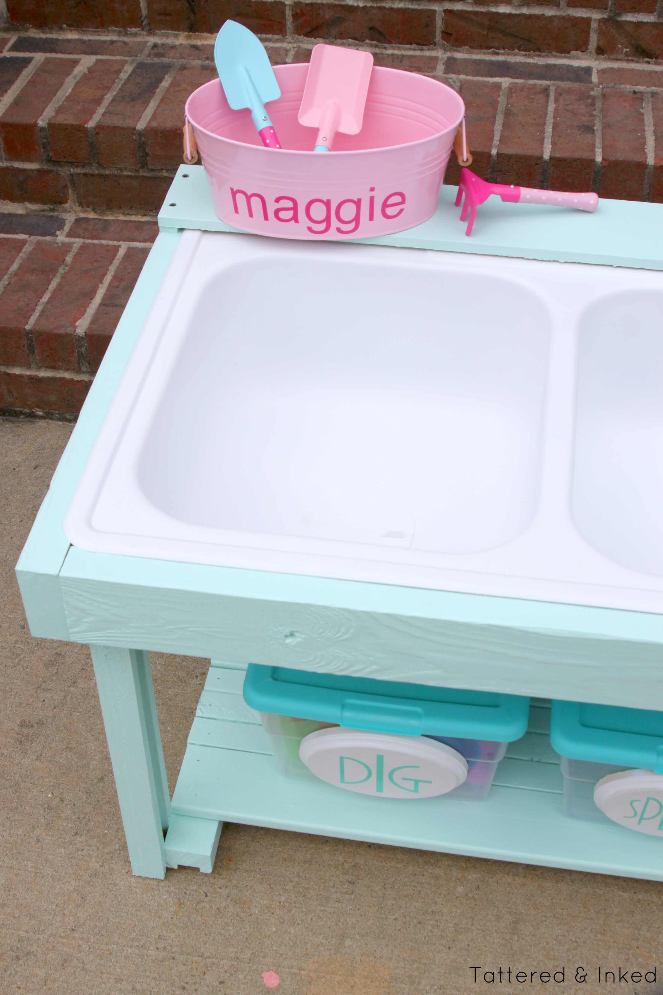 restore kitchen cabinets thermador package remodelaholic | build a kids sand and water table from an ...