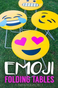 Emoji top folding tables by Tried and True via @Remodelaholic