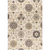 Cream Floral Vine Olefin Area Rug