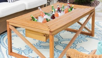 Remodelaholic build a patio table with built in ice boxes brilliant diy cooler tables for the patio with built in coolers sinks watchthetrailerfo