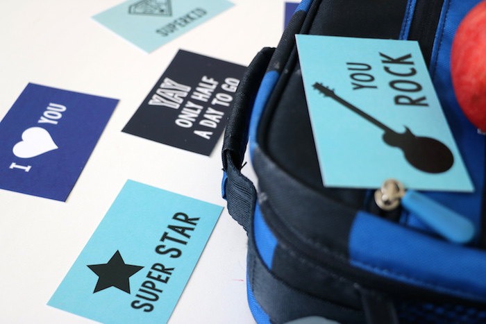Cute printable lunch box notes, free printable from Remodelaholic.com