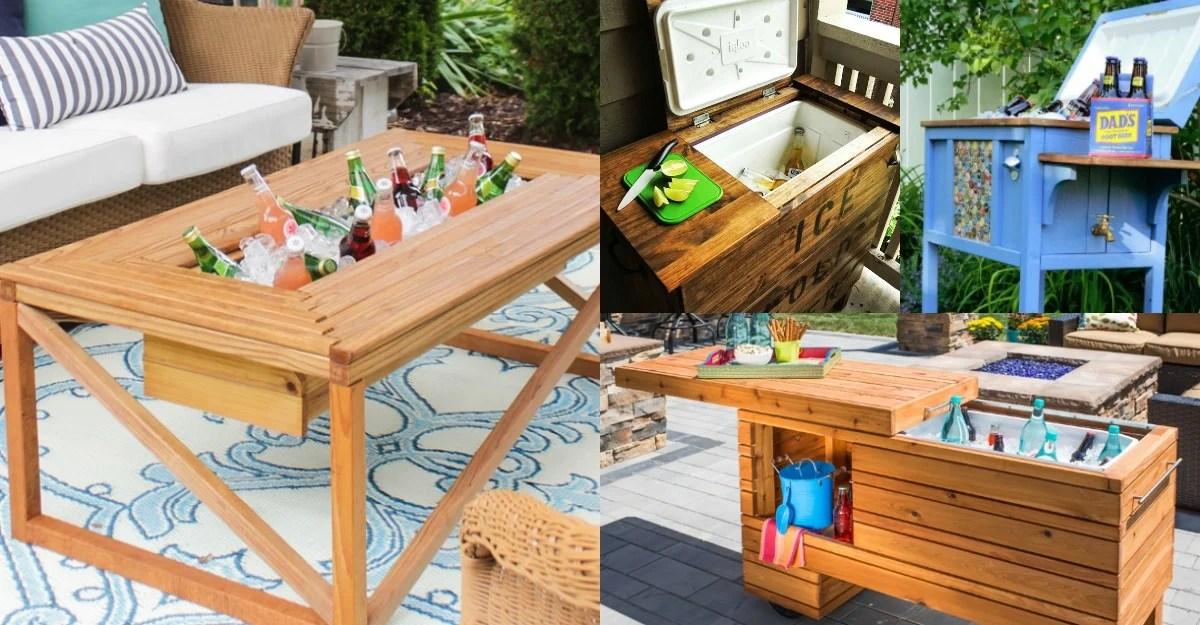 brilliant diy cooler tables