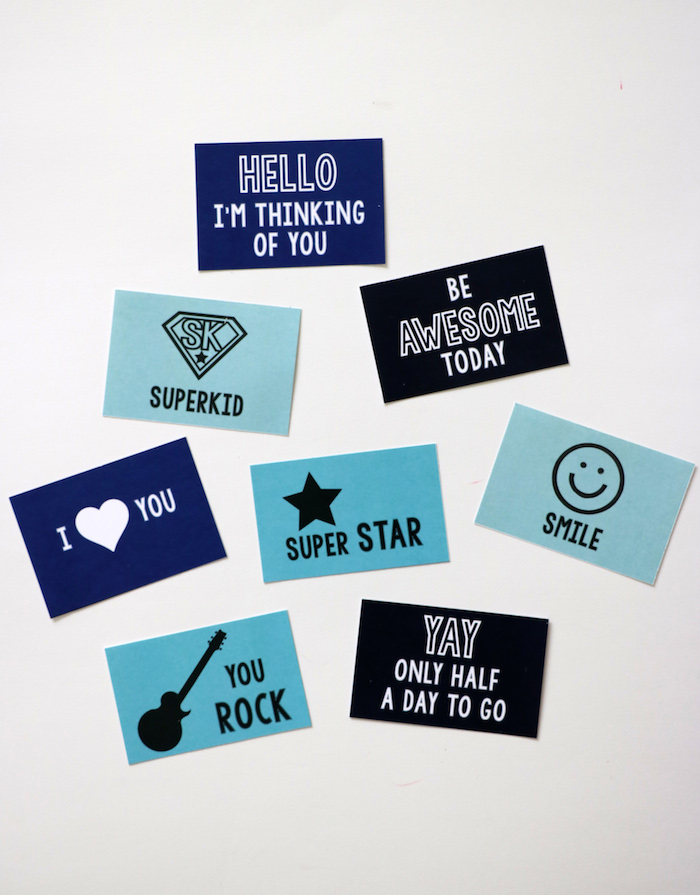 Free Printable Lunch Box Notes at Remodelaholic.com