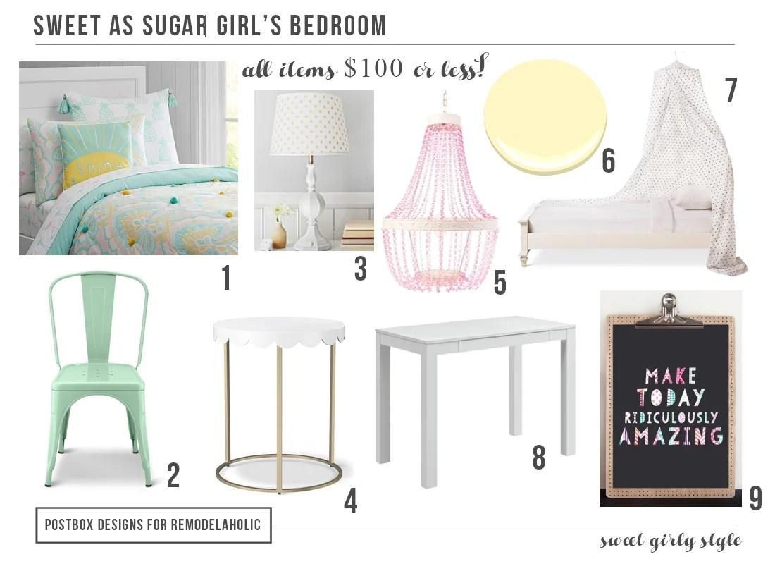 Girl Bedroom Mood Board by Postbox Designs