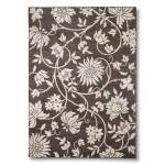 Brown Floral Area Rug  // buy it here