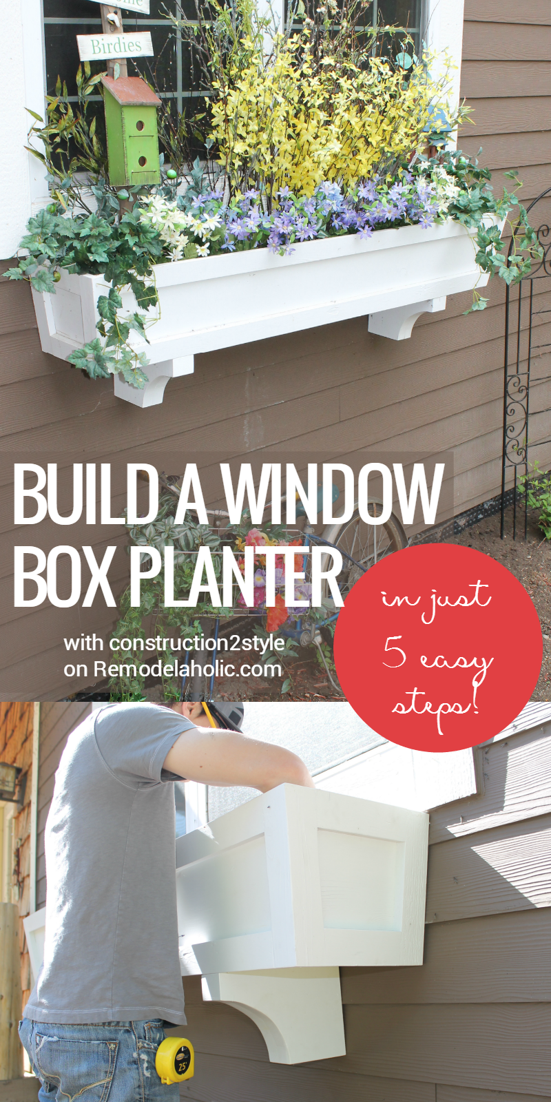 Remodelaholic   How to Build a Window Box Planter in 5 Steps on indoor window boxes for building designs, window box planting designs, diy window box designs, window wall designs, window trellis designs, window home designs, window sills designs, cedar wall designs, window greenhouse designs, window box plans, window kitchen designs, window garden designs, window pergola designs,