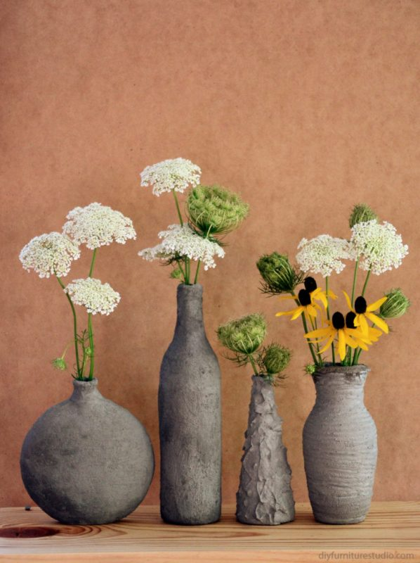 diy cement vases, DIY Furniture Studio