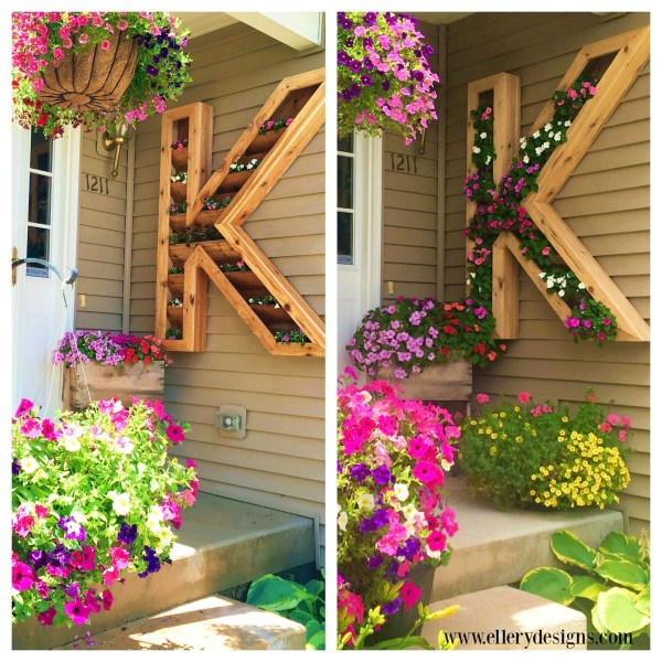 diy outdoor monogram planter by Ellery Designs on @Remodelaholic (1)