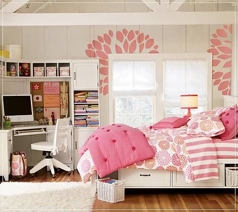 Remodelaholic | Sweet As Sugar Girl\'s Room Design Ideas (On a Budget!)