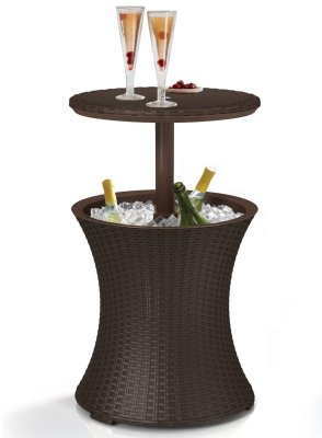 rattan party cooler table