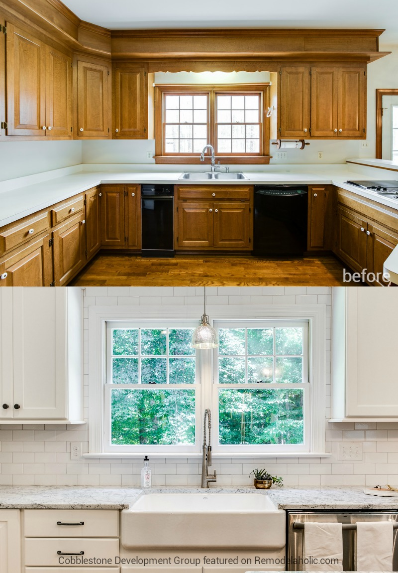 Remodelaholic Before After From Dated 1980 S Renovation To