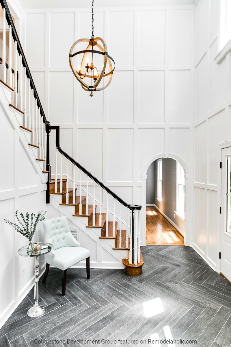 Wonderful 1980u0027s Tall Entryway Renovation, Fendall Home Renovation, Cobblestone  Development Group Featured On @Remodelaholic