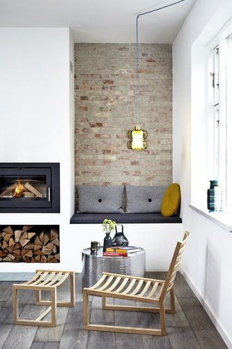 Awkward Alcove Solution: Add floating shelves   More ideas at Remodelaholic.com   Image Source: thedesignchaser.com