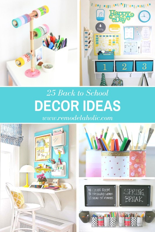 25 Back to School Decor Ideas to get a festive fun back to school look around your home featured on Remodelaholic.com #decor #backtoschool #decorating #fall