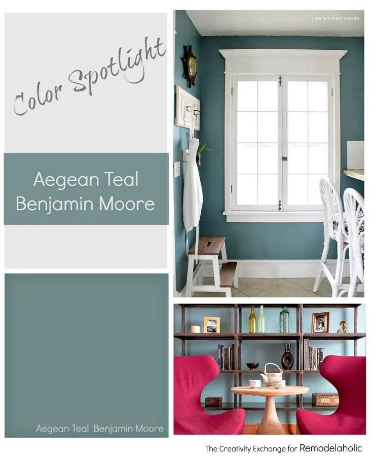 Teal Paint Color Schemes: Color Spotlight: Benjamin Moore Aegean Teal