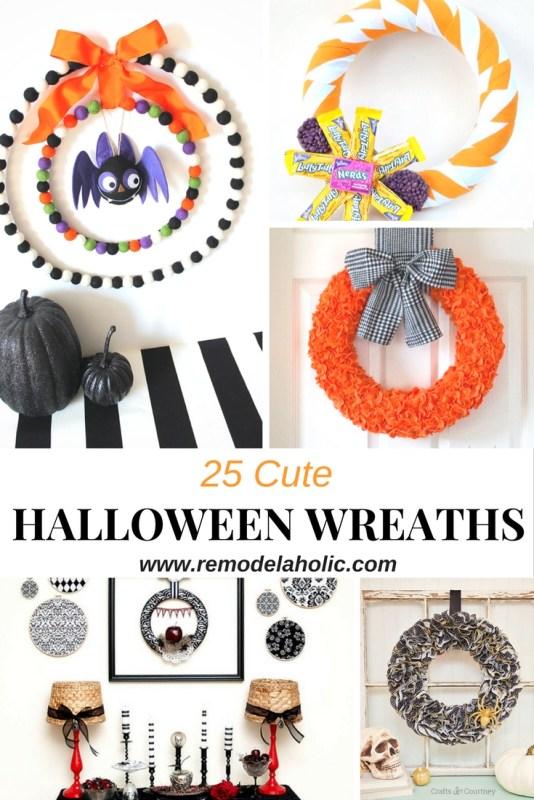 Cute Halloween wreaths pin 1