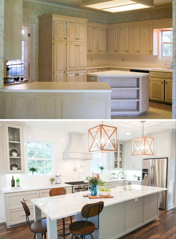 Love the look of the kitchens on Fixer Upper? Get the look in your own home with these 6 Design Elements of a Fixer Upper Kitchen featured on Remodelaholic.com Fixer Upper Kitchen - Season 3, Chip 2.0 House