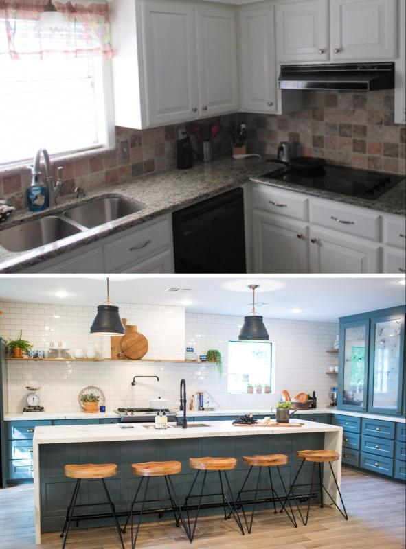 Love the look of the kitchens on Fixer Upper? Get the look in your own home with these 6 Design Elements of a Fixer Upper Kitchen featured on Remodelaholic.com Fixer Upper Kitchen - Season 3, School House