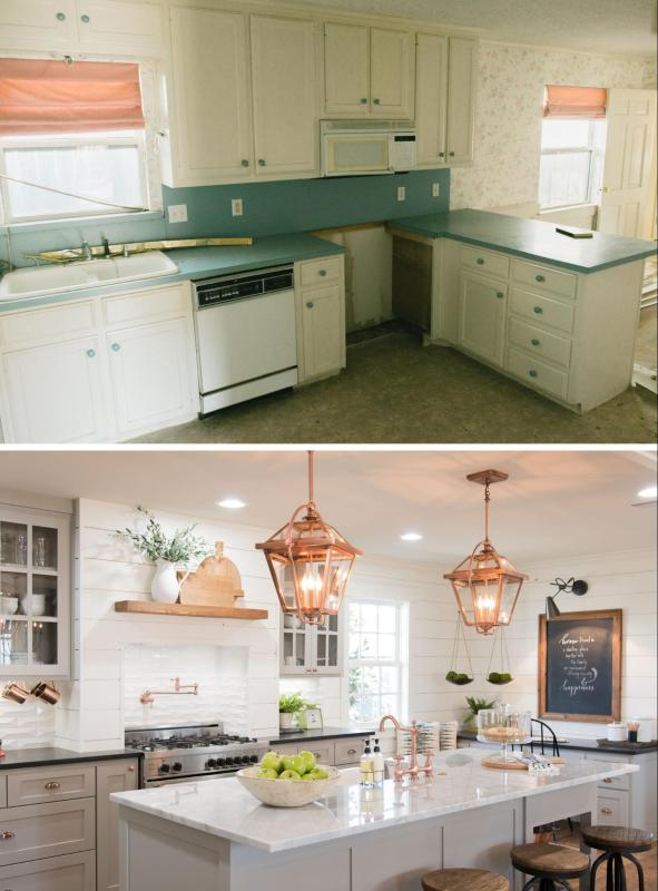 Love the look of the kitchens on Fixer Upper? Get the look in your own home with these 6 Design Elements of a Fixer Upper Kitchen featured on Remodelaholic.com Fixer Upper Kitchen_Season 3, Carriage House