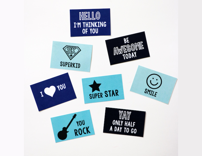 Lunch Box Notes, free printable from Remodelaholic.com
