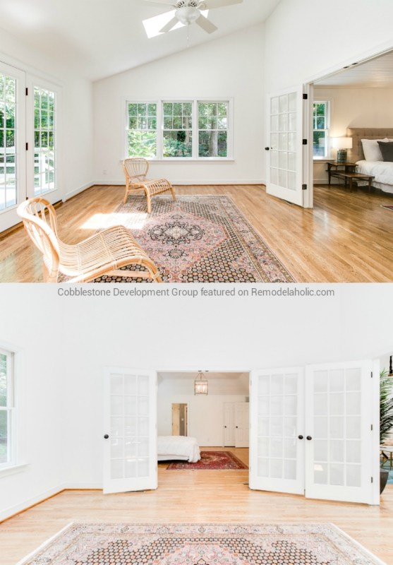 Modern Master Bedroom Attached Room Renovation, Fendall Home Renovation, Cobblestone Development Group featured on @Remodelaholic