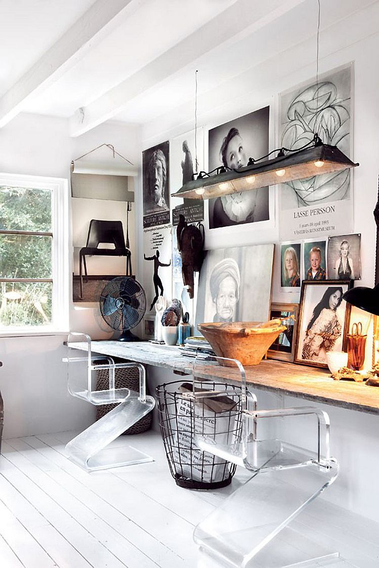 Charmant Rustic Modern Office Inspiration + Tips On @Remodelaholic | Image Source:  Decoist.com