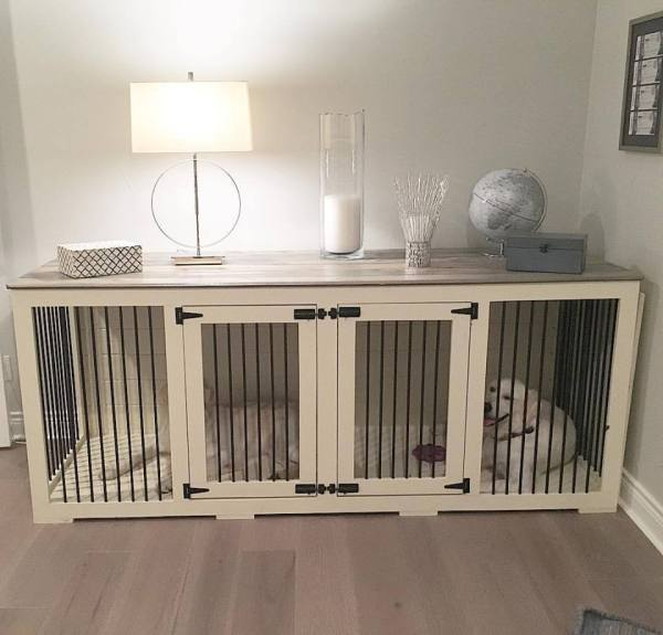 beautiful dog kennel console table by B&B Kustom Kennels