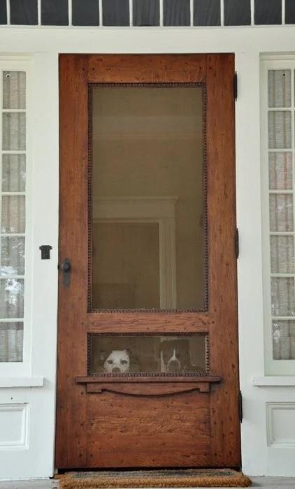 beautiful wood screen door