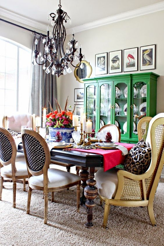 eclectic dining room style inspiration