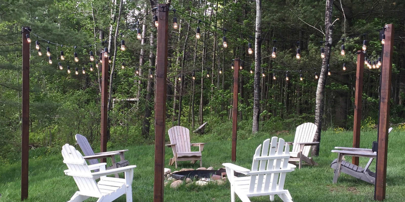 Remodelaholic | Easy DIY Outdoor Lighting Around a Fire Pit on Diy Outdoor Fire id=37984